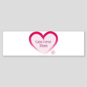 Cane Corso Pink Heart Sticker (Bumper)