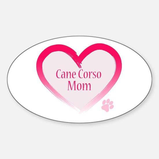 Cane Corso Pink Heart Sticker (Oval)