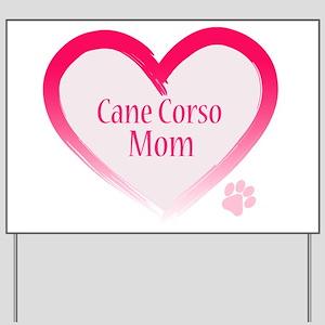 Cane Corso Pink Heart Yard Sign