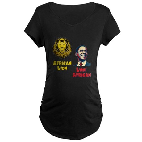 Obama Lyin' African Maternity Dark T-Shirt