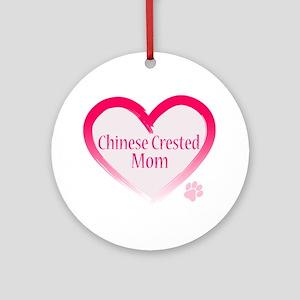 Pug Mom Ornament (Round)