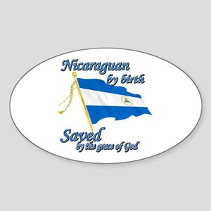 Nicaraguan by birth Sticker (Oval)