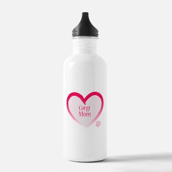 Cute Welsh corgi cardigan Water Bottle