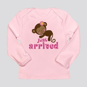Just Arrived Monkey Long Sleeve Infant T-Shirt