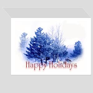 Happy holidays bull elk Greeting Card
