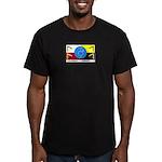 Humanbeingflag Men's Fitted T-Shirt (dark)