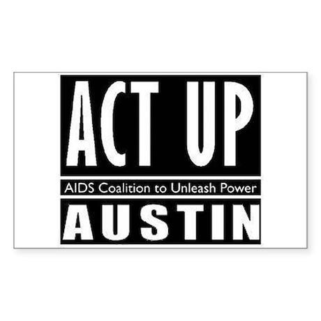 ACT UP Austin Rectangle Sticker