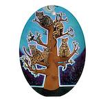 Quiche Lorraine's Bengal Tree Ornament (Oval)