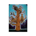 Quiche Lorraine's Bengal Tree Rectangle Magnet (10