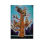 Quiche Lorraine's Bengal Tree Rectangle Magnet