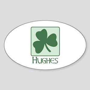 Hughes Family Oval Sticker
