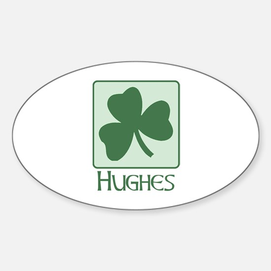 Hughes Family Oval Decal