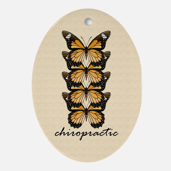 Chiro Butterflies Ornament (Oval)