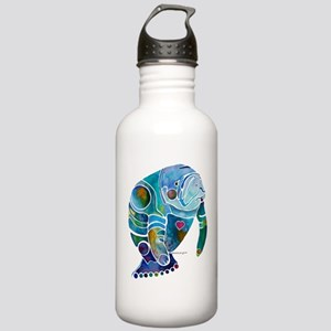 Manatees Endangered Species Stainless Water Bottle