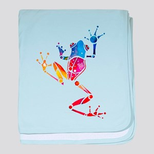Tree Frog Bright Colors baby blanket