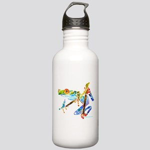 Tree Frog Blue Green Stainless Water Bottle 1.0L