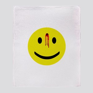 Dead Smiley Throw Blanket