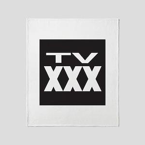 TV XXX Rating Throw Blanket