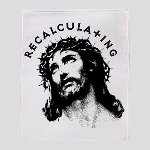 Recalculating Jesus Throw Blanket