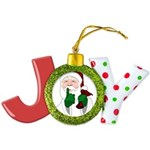 Santa Clause Christmas Joy Ornament