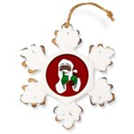 African Santa Clause Christmas Rustic Snowflake Or