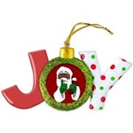 African Santa Clause Christmas Joy Ornament