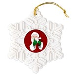 Santa Clause Christmas Snowflake Ornament