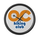 OC Hiking Club Large Wall Clock