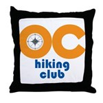 OC Hiking Club Throw Pillow