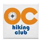 OC Hiking Club Tile Coaster