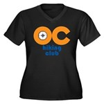 OC Hiking Club Women's Plus Size V-Neck Dark T-Shi