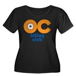OC Hiking Club Women's Plus Size Scoop Neck Dark T