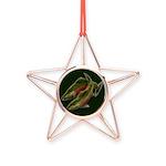 Gone Fishing Coho Salmon Copper Star Ornament