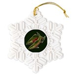 Gone Fishing Coho Salmon Snowflake Ornament