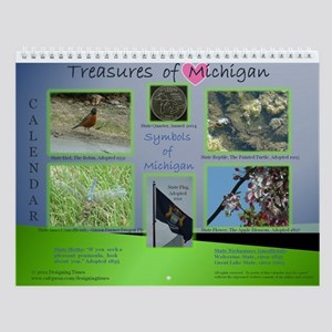 Treasures of Michigan Wall Calendar
