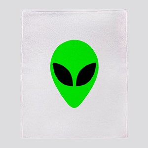 Alien Head Throw Blanket
