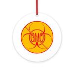 No GMO Biohazard Round Ornament
