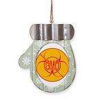 No GMO Biohazard Mitten Ornament