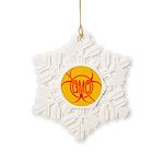 No GMO Biohazard Snowflake Ornament