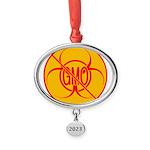 No GMO Biohazard Oval Year Ornament