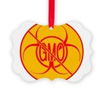 No GMO Biohazard Picture Ornament