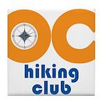 OC Hiking Club Tile Coaster