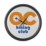 OC Hiking Club Large Wall Clock
