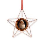 Pomeranian Dog Copper Star Ornament