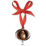 Pomeranian Dog Oval Year Ornament