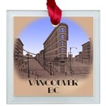 Vancouver Souvenir T-Shirts Gifts Square Glass Orn