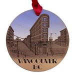 Vancouver Souvenir T-Shirts Gifts Maple Round Orna