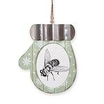 Honey Bee Art Mitten Ornament