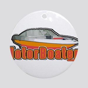 Motorboater Ornament (Round)