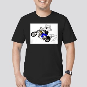 Motorcycle Cat Men's Fitted T-Shirt (dark)